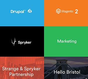 Strange marketing agency homepage